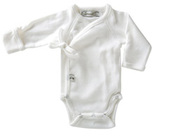 Little Sprout Collection ~ Organic Preemie Clothing ~ White Long Sleeved Onesie