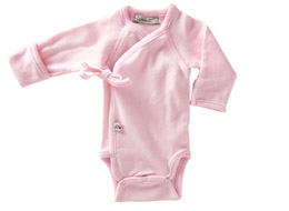 Little Sprout Collection ~ Organic Preemie Clothing ~ Light Pink Long Sleeved Onesie