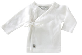Sprout Collection Premature Clothing ~ Long Sleeved Shirt White with white stitching