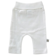 Sprout Collection Premature Clothing ~ White Cotton Rib Knit Pant