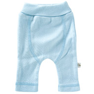Sprout Collection Premature Clothing ~ Light Blue Cotton Rib Knit Pant