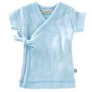 Little Sprout Collection ~ Organic Preemie Clothing ~ Blue Cotton Rib Knit TShirt